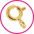 anelli a molla PESO-STANDARD-MAGLIA-NORMALE - SPRING RINGS FOR NORMAL LOCKS