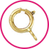 anelli a molla SUPER-LEGGERO-MAGLIA-NORMALE - spring rings